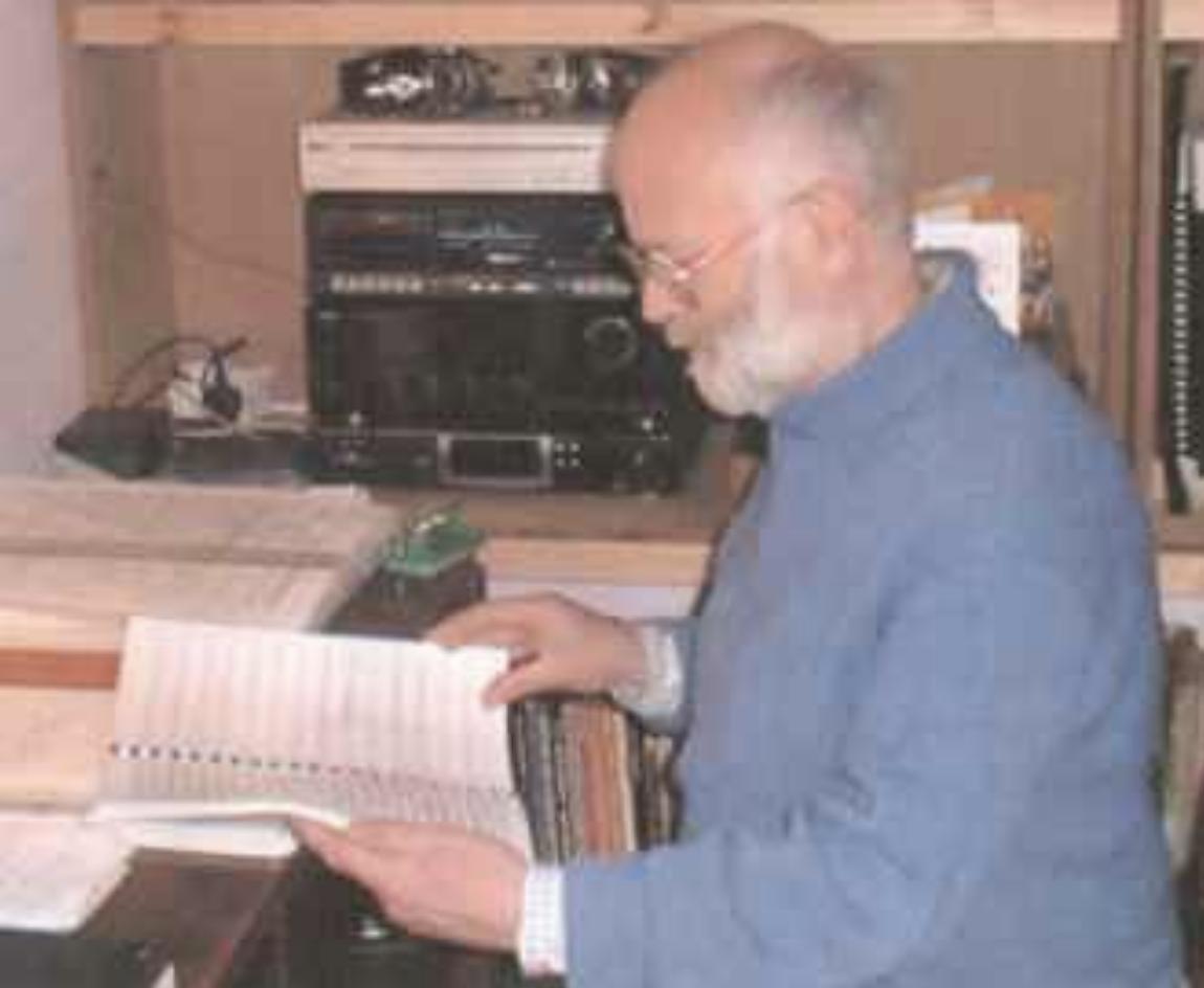 David Ward at desk