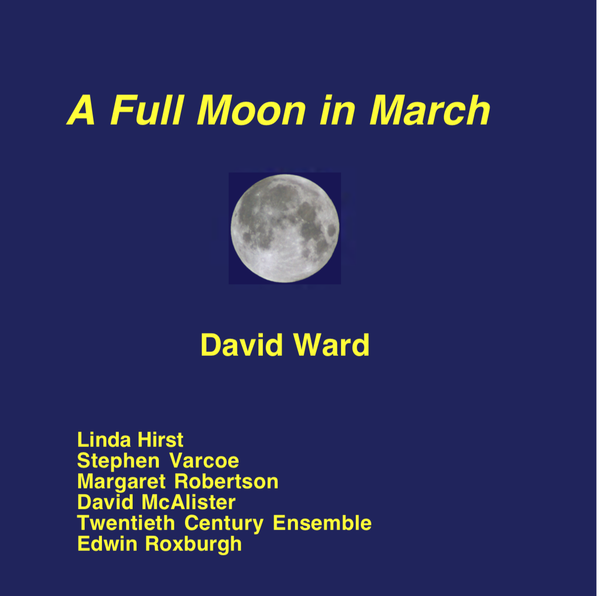 A Full Moon In March cover